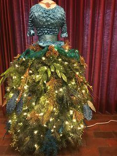 I made this dress form tree for a client. Mannequin Christmas Tree, Dress Form Christmas Tree, Whimsical Christmas Trees, Christmas Dresses, Holiday Dresses, Xmas Tree, Office Christmas, Old Christmas, Christmas Ideas