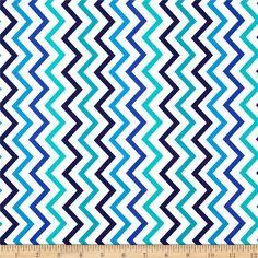 Michael Miller Mini Chic Chevron Marine - Discount Designer Fabric - Fabric.com