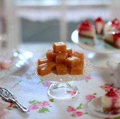 Miniature Caramel Nut Fudge by CuteinMiniature on Etsy