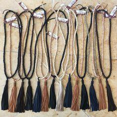 Boho Beads leather tassels