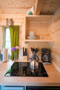 Check out the second bedroom in this 196-square-feet house.