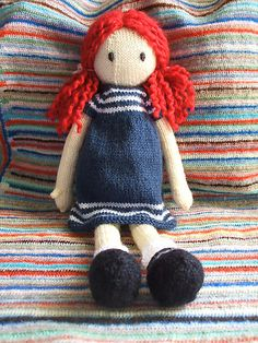 Beautiful knitted toys free patterns find this pin and more on toys. knitted plushie doll sally the eco fairy, free knitting pattern CPLINOY - Crochet and Knit Knitting Dolls Free Patterns, Knitted Dolls Free, Crochet Dolls, Free Knitting, Baby Knitting, Knitting Toys, Knitting Projects, Crochet Projects, Knitted Animals