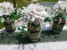 CELTIC WEDDING CENTERPIECES RuSTiC MaSoN/BaLL by TheCelticHeart, $150.00