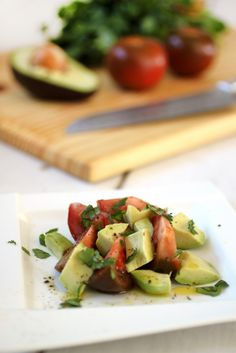 The Food Lovers Kitchen Kumato and Avocado Salad