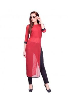 Be the show stopper wearing this red coloured designer side slit cotton kurti #redkurtionline #womensfashion #kurtisonline #onlinekurtis #casualkurti Shop here-  https://trendybharat.com/indian-red-designer-cotton-kurti-sick0054?search=designer%20kurti%20for%20women&page=8