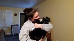 Alyssa & Luna Hug Your Cat Day, Selfie, Women, Women's, Selfies