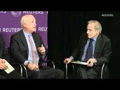 Senator John McCain attacks Supreme Court decision that corporations are people   during the Thomson Reuters panel Politics Inc. (March 27, 2012)