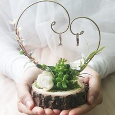 Succulent Ring hanger If you feel bored with traditional ring pillow and still consider some ring box . Why not try a new way to hold your rings with ring hanger ? Ring Holder Wedding, Ring Pillow Wedding, Wedding Favors, Diy Wedding, Rustic Wedding, Wedding Gifts, Dream Wedding, Wedding Engagement, Wedding Ideas