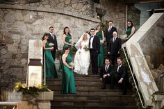 Group Portraits on the stairs at Cambridge Mill - Jonny & Becky | Cambridge Mill Wedding Photography | | David & Sherry
