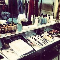 Behind the Scenes in the makeup room shooting for 'The Show' movie