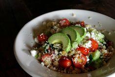 Greek Couscous Salad//Healthy Dinner Recipe