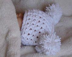 CROCHET PATTERN Rose Buds Crocheted Hat Pattern for Sizes