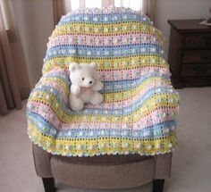 Pop Goes The Weasel Afghan By Roseanna Beck - Free Crochet Pattern - (favecrafts)