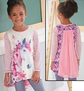 Floral Horse High-Low Tunic by CWDkids
