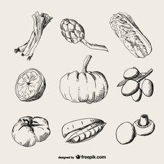 リアルな描画野菜