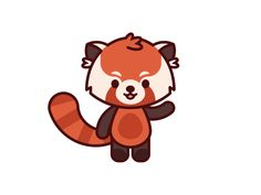 Cute Cartoon Drawings, Art Drawings Sketches Simple, Easy Drawings, Animal Drawings, Red Panda Cartoon, Red Panda Cute, Panda Drawing Easy, Panda Illustration, Panda Art