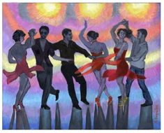 Salsa Silhouettes Poster.  etsy