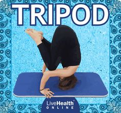 Tripod, a pose that works as a transition into handstands, is no exception. The Tripod pose lengthens the spine, eases lower back pressure and can even alleviate stress. If you are new to yoga or just beginning to practice more complicated positions, make sure you're in the presence of an instructor or someone who can help spot you when working on Tripod. Health Benefits, Health Tips, Handstands, Yoga Flow, Tripod, Yoga Poses, Fitness Tips, Stress, Exercise