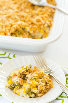 Corn and Mixed Vegetable Casserole - A Thanksgiving staple, plus you can make it a day in advance! | browneyedbaker.com