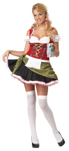 California Costumes Bavarian Bar Maid Set RedOlive Small ** Visit the image link more details.