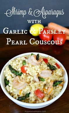 Shrimp & Asparagus with Garlic & Parsely Pearl Couscous recipe  #ad #IC #TasteOfALDI