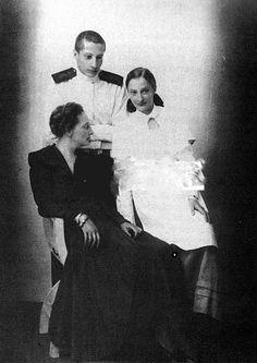 "Princess Tatiana Konstantinovna Romanova of Russia with her two children,Prince Teymuraz Konstantinovich Bagration-Mukhransky and Princess Ekaterina Konstantinovna Bagration-Mukhranskaya. ""AL"""