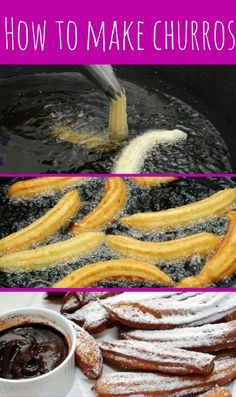 Celebrated Chef Rick Bayless shares his recipe for Mexican Churros, crunchy fluted fritters that he says are his weakness.but only when they're served warm. Mexican Dessert Recipes, Snack Recipes, Cooking Recipes, Snacks, Mexican Dinner Party, Mexican Dinners, Traditional Mexican Desserts, Rick Bayless, Mexican Cooking