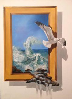 "Saatchi Art Artist Eka Peradze; Painting, ""freedom. #5- 3D  50x70"" #art"