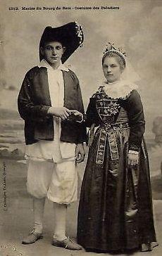 Mariés de Batz. Costume de paludier.
