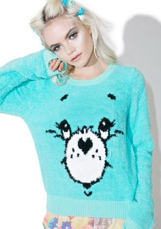 Iron Fist Wish Bear Sweater .be sure to wish on dat shooting star, bb This long sleeve sweater is perfect to cuddle with its xxxtra soft plush shaggy material and adorbz Care Bear face with banded trim. Long Sleeve Sweater, Long Sleeve Tops, Winter Tops, Sanrio Hello Kitty, Ringer Tee, Blue Sweaters, Shirt Jacket, Blue Tops, Christmas Sweaters