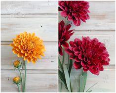 Christine Paper Design - it\'s me Paper Flower Art, Paper Dahlia, Paper Peonies, Paper Flowers Craft, Paper Flower Tutorial, Paper Flower Centerpieces, Paper Flower Arrangements, Types Of Flower Arrangement, Types Of Flowers