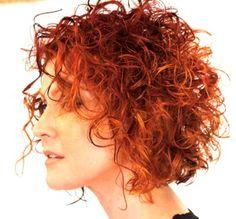 Bilderesultat for copper curly short