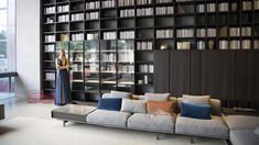 Lema has chosen Shenzhen, in China, one of the fastest-growing international cities today, to open its largest flagship store in the world: beyond 1000 sq.m and a central position for an exhibition space, expression of the company's Italian excellence. Furniture, Shelves, Interior, Home, Lema, Bookcase, Shelving Unit, Room Divider, Exhibition Space