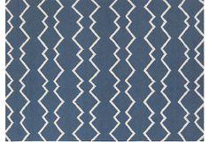 Davis Flat-Weave Rug, Sailor Blue