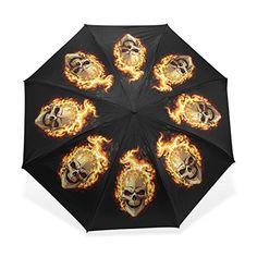 BAIHUISHOP 3 Folding Parasol Sun Protection AntiUV Sun and Rain Umbrellas Skull Flower Pattern Compact Ultra slim Travel Umbrella >>> Click image for more details.