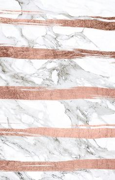 'Modern chic faux rose gold brush stripes white marble' iPhone Case by GirlyTrend - Papel de parede de fundo branco - Wallpaper I Phone 7 Wallpaper, Marble Iphone Wallpaper, Rose Gold Wallpaper, Marble Iphone Case, Tumblr Wallpaper, Screen Wallpaper, Cool Wallpaper, Wallpaper Backgrounds, Rose Gold Backgrounds