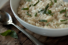 Goat Cheese Risotto - I made this tonight and subtracted the thai basil and added roasted peeled cherry tomatoes and it was AMAZING!!