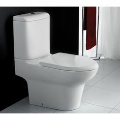 RAK Infinity Close Coupled Full Access WC & Cistern  Soft Close Seat - INFFAPAN - Banyo Traditional Toilets, Close Coupled Toilets, Back To Wall Toilets, Wall Hung Toilet, Big Bathrooms, Bathroom Toilets, Infinity, Modern, Design