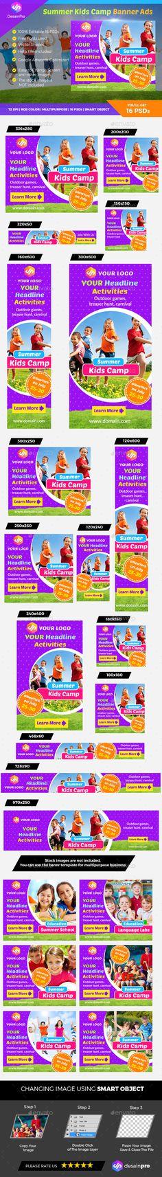 Summer Kids Camp Banner - Banners & Ads Web Elements Download here : https://graphicriver.net/item/summer-kids-camp-banner/19594141?s_rank=66&ref=Al-fatih