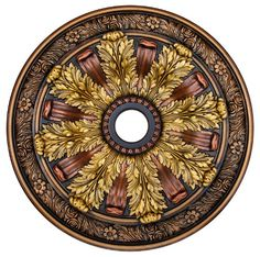 """Hand Painted Decorative Ceiling Medallion 30"""", Finished in Bronze, Gold and Copper Fine Art Deco,http://www.amazon.com/dp/B00C7D8R08/ref=cm_sw_r_pi_dp_qZFZsb032VW87VGK"""