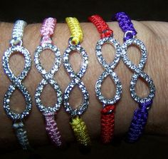 Rhinestone Infinity Bracelets