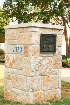 stone mailbox design ideas pictures remodel and decor - Mailbox Design Ideas