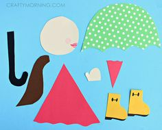 Girl in Rain Boots Craft Template от OneCraftyMorning на Etsy