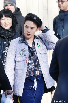 GDragon Literally Wore Chanel's Jacket from the Brand's Women Collection But He Looks Just Perfect with His Own Unique Style at Recent Event (+ Photos) Seungri, G Dragon Fashion, Rapper, Chanel Men, G Dragon Top, Bigbang G Dragon, Chanel Jacket, Layered Fashion, Recent Events