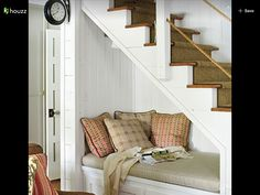 Bench under stairs