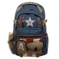 rogeriodemetrio.com  Captain America Backpack Marvel Dc Comics 15fa3516ca29a