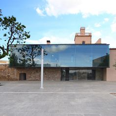 Image 1 of 26 from gallery of Masia Can Guasch / TwoBo Architecture + Luis Twose Architect. Photograph by TwoBo Architecture Dezeen Architecture, Contemporary Architecture, Interior Architecture, Contemporary Houses, School Architecture, Interior Exterior, Exterior Design, Adaptive Reuse, Spanish House