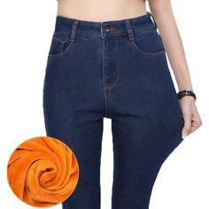 Пульс Размер Теплый Эластичность Высокой Талией Джинсы Альпака Кашемир Ультра мягкие женские джинсы Тонкий узкие джинсы Утолщаются джинсы женские брюкикупить в магазине zeon heeнаAliExpress