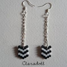 Earrings hama beads by claradolll