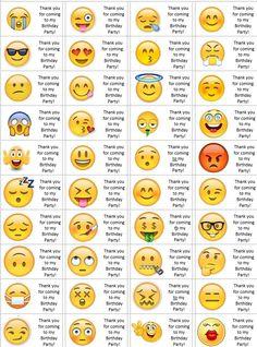 40 x Personalised Emoji labels/stickers/birthday/party/cake/sweet/bags Tic Et Tac Disney, Emoji Names, Names Of Emojis, Emoji Chart, Le Emoji, Emojis Meanings, Different Emojis, Personalized Emoji, Emoji Dictionary